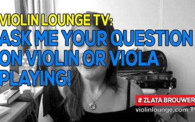 Violin Lounge TV: Ask me your question on violin or viola playing!