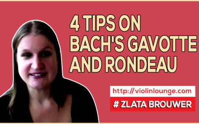 4 Tips on Bach's Gavotte and Rondeau