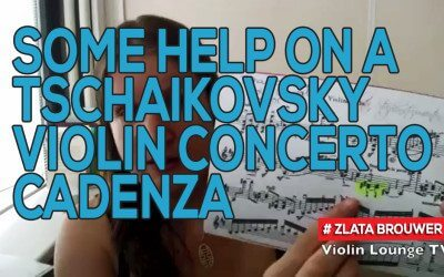 Some Help on a Tschaikovsky Violin Concerto Cadenza