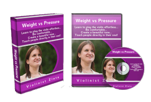weight vs pressure violin workshop