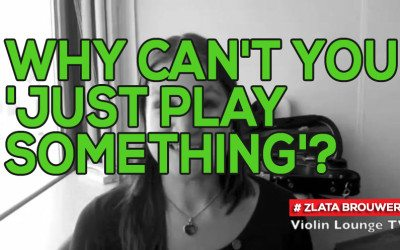 Why Can't You 'Just Play Something'?