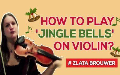 How To Play 'JINGLE BELLS' on the Violin? (playful pizz and bow version)