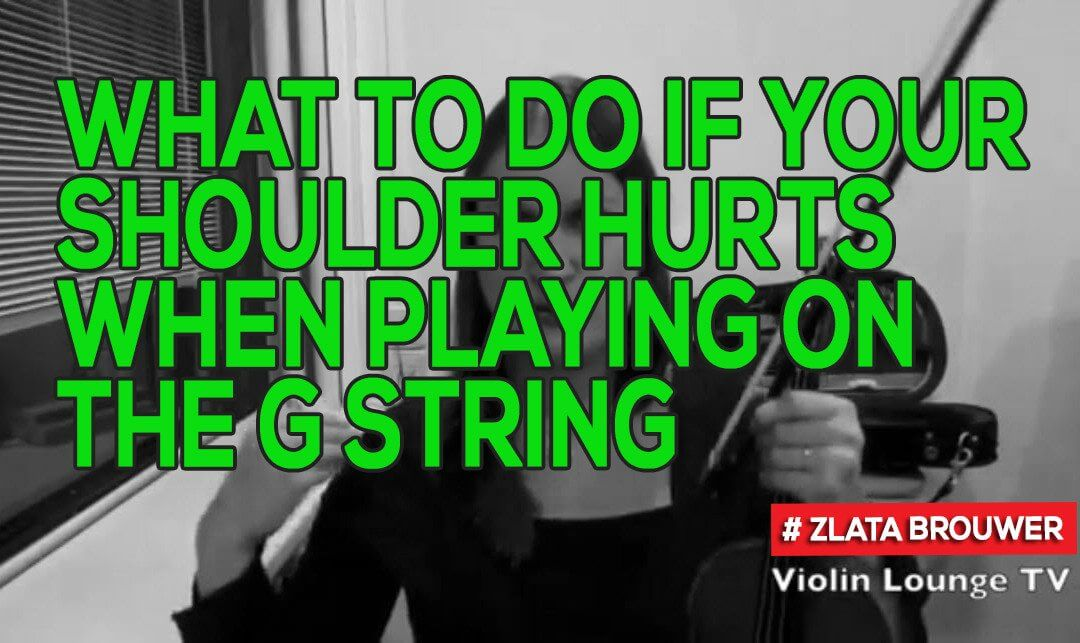 What To Do if Your Shoulder Hurts When Playing on the G String