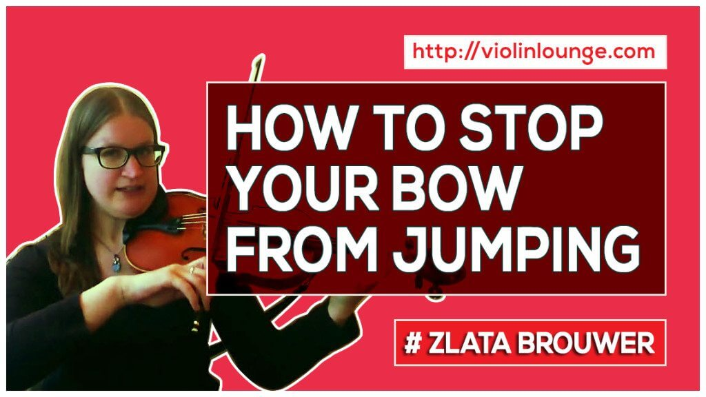 How to Stop Your Violin Bow from Jumping