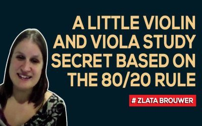 A Little Violin and Viola Study Secret Based on the 80/20 Rule