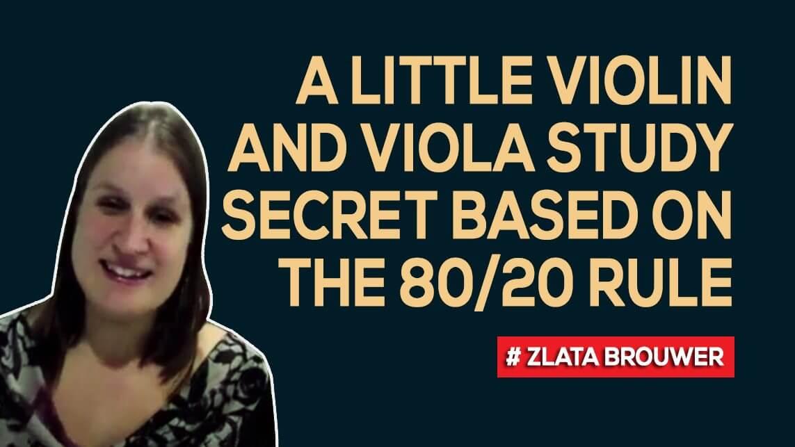 A Little Violin And Viola Study Secret Based On The 80 20 Rule Violin Lounge
