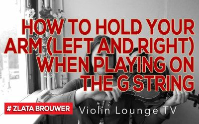 How To Hold Your Arm (left and right) when Playing on the G String