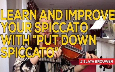 "Learn and Improve Your Spiccato with ""Put Down Spiccato"""