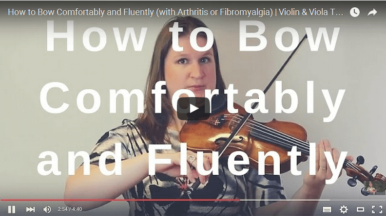 How to Bow Comfortably and Fluently (with Arthritis or Fibromyalgia)   Violin & Viola TV #205