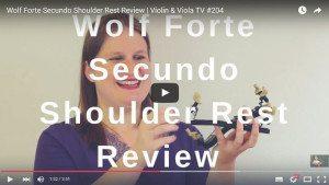 Wolf Forte Secundo Shoulder Rest Review | Violin & Viola TV #204