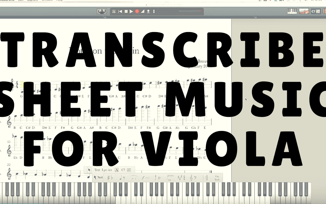 How to Transcribe Violin Sheet Music for the Viola   Violin Lounge TV #227