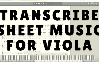 How to Transcribe Violin Sheet Music for the Viola | Violin Lounge TV #227