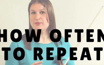 How Often to Repeat Something while Practicing | Violin Lounge TV #231