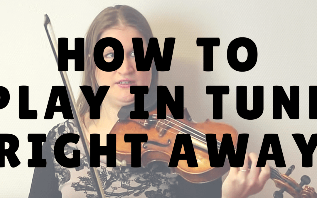 How to Play in Tune Right from the Start | Violin Lounge TV #232
