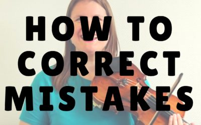 [Video] How to Correct a Mistake while Practicing Violin | Violin Lounge TV #243
