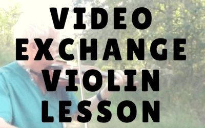 [Video] Video Exchange with my Online Violin Student Blair