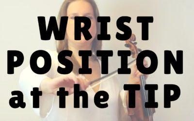 [Video] Wrist Position when Bowing at the Tip | Violin Lounge TV #251