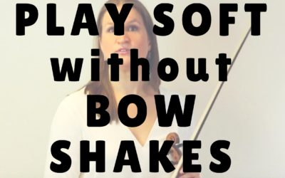 [Video] How to Play Soft without Bow Shakes | Violin Lounge TV #252