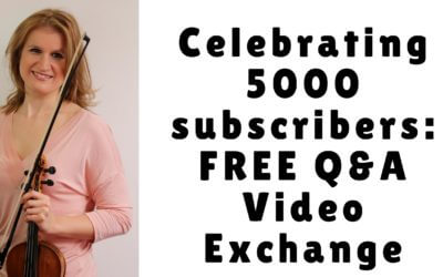 Celebrating 5000 subscribers: FREE Q&A Video Exchange