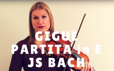Gigue from Bach's Partita in E Major – Video Exchange | Violin Lounge TV #259