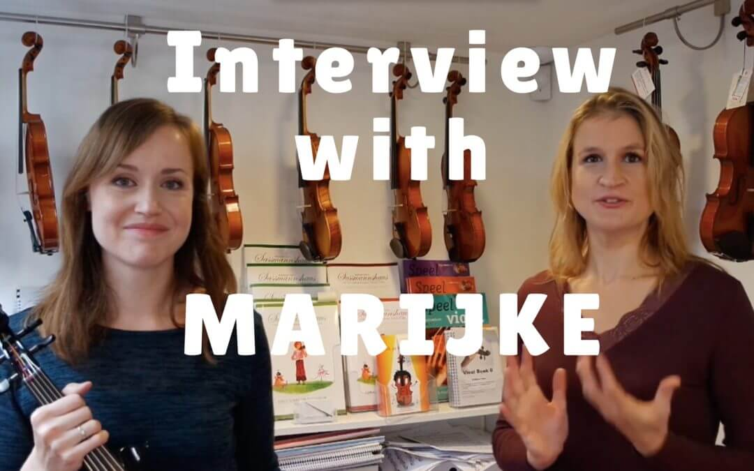 Interview with Marijke about learning to play the violin as an adult | Violin Lounge TV #260