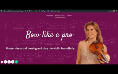 Sneak Peek in the 'Bow like a Pro' Online Masterclass Program