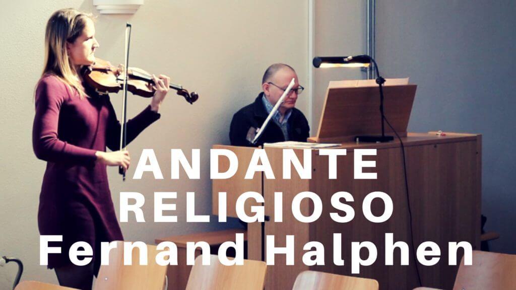 Andante Religioso by Fernand Halphen (violin and organ)