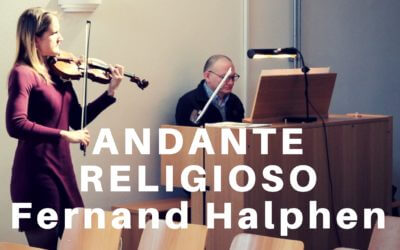 Andante Religioso by Fernand Halphen (violin and organ)