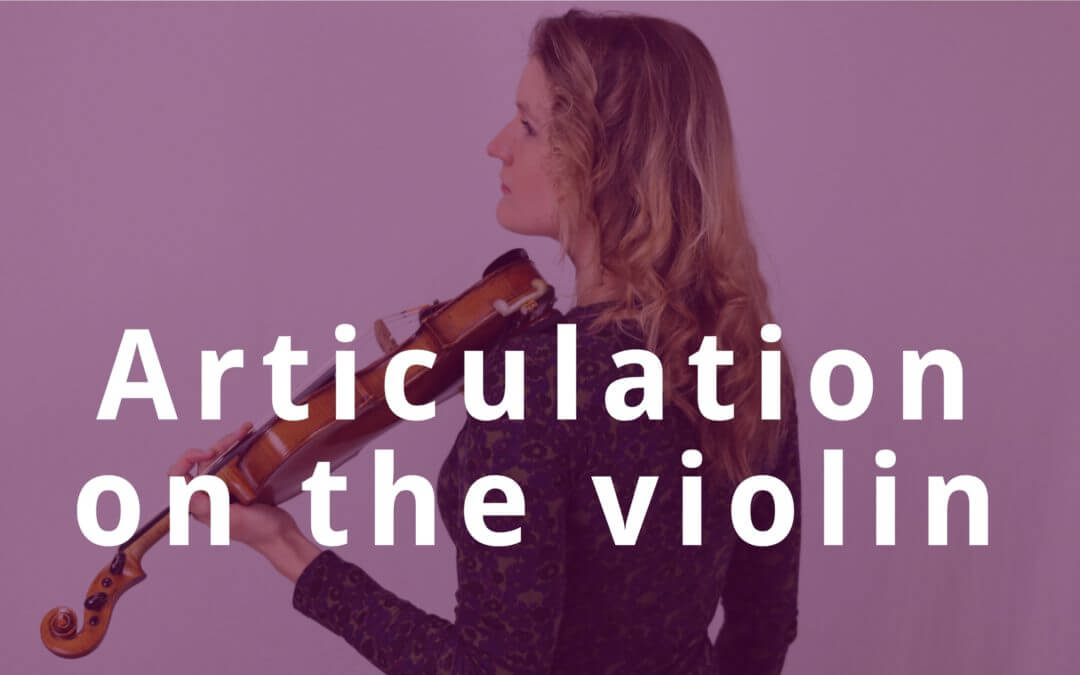 [Video] 5 Tips for a clean articulation on the violin | Violin Lounge TV #276