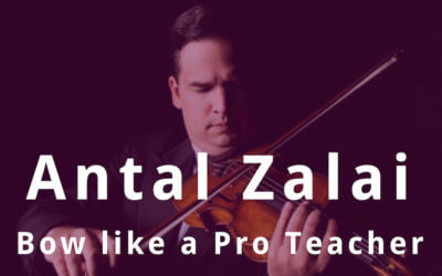 Violin Lessons with Concert Violinist Antal Zalai