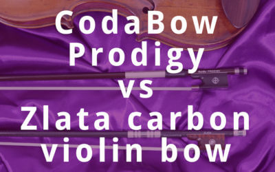 CodaBow Prodigy vs Zlata Carbon Violin Bow Review | Violin Lounge TV #286