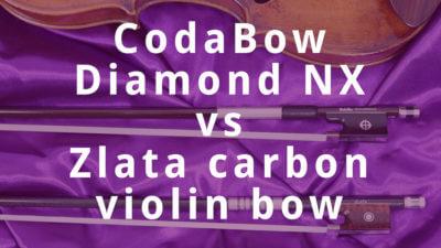 CodaBow Diamond NX vs Zlata Carbon Violin Bow Review | Violin Lounge TV #289