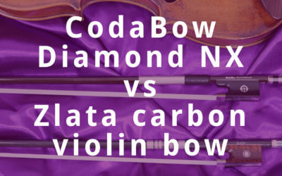 CodaBow Diamond NX vs Zlata Carbon Violin Bow Review | Violin Lounge TV #289