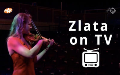 On Dutch national television Zlata plays violin and talks about stage fright