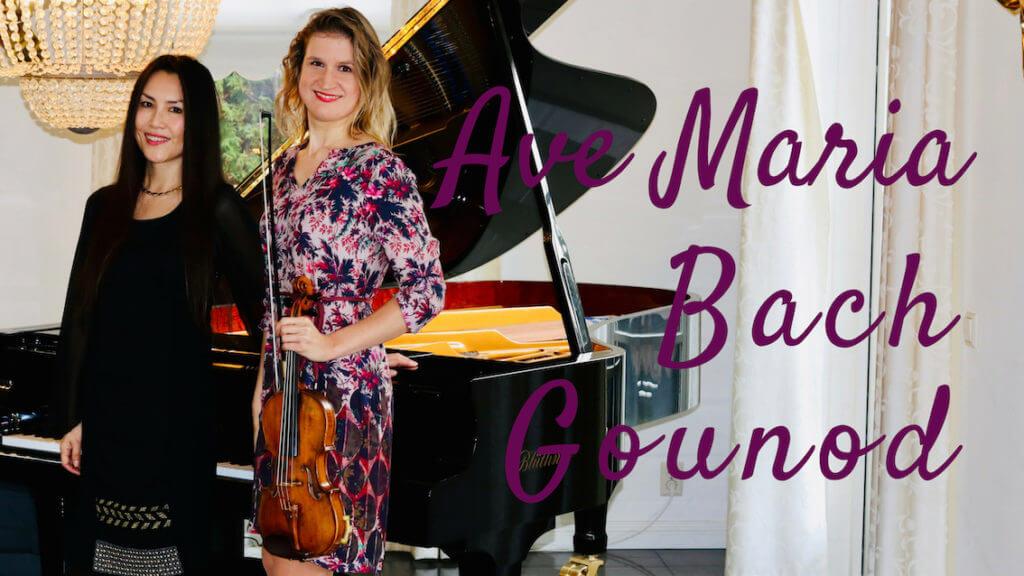 ave maria bach gounod violin piano