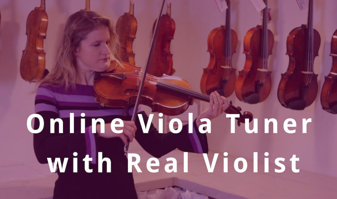 Online Viola Tuning with Real Violist