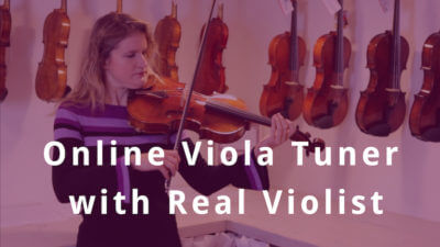 Online Viola Tuning with Real Violist