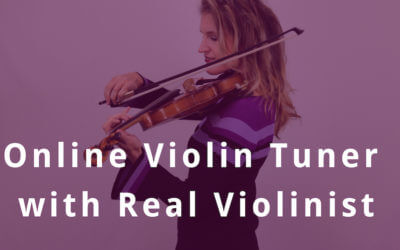 Online Violin Tuning with Real Violinist