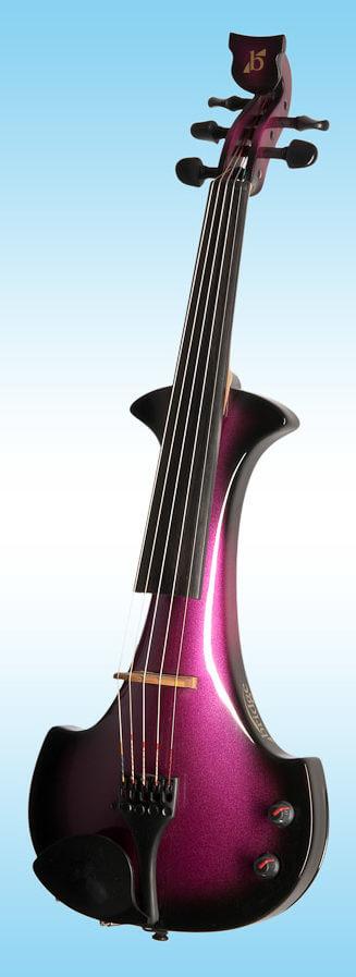bridge Lyra purple electric violin 5 string