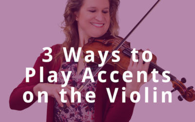 3 Ways to Play Accents on the Violin | Violin Lounge TV #301