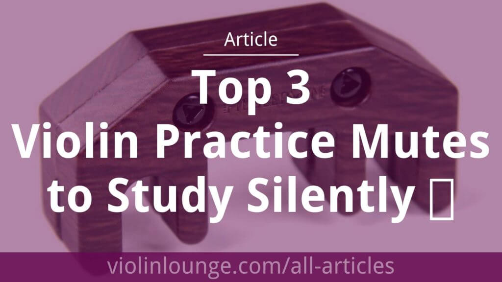 Top 3 Violin Practice Mutes to Study Silently
