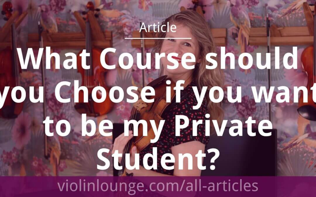 What Course should you Choose if you want to be my Private Student?