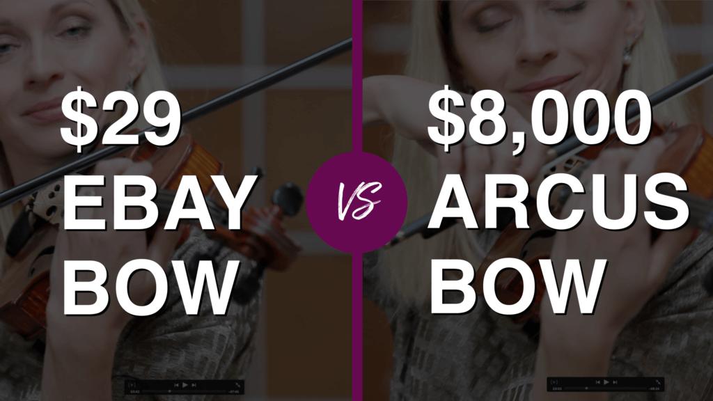 Violinist tries $ 29 eBay Violin Bow vs $ 8.000 Professional Bow (met Giedre)