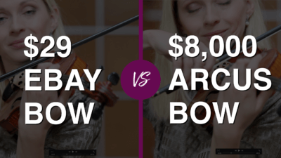 Violinist tries $ 29 eBay Violin Bow vs $ 8.000 Professional Bow | Violin Lounge TV #318