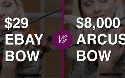 Violinist tries $ 29 eBay Violin Bow vs $ 8.000 Professional Bow | Violin Lounge TV #318