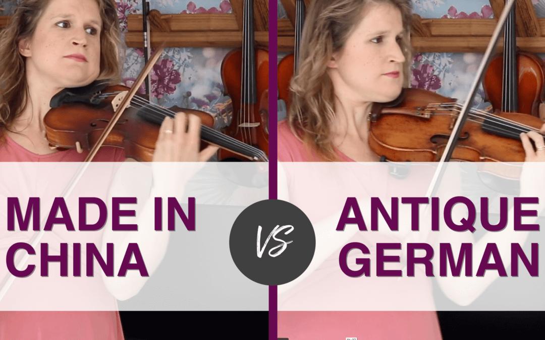 Professional Violinist tries $ 67 Violin vs Her Violin