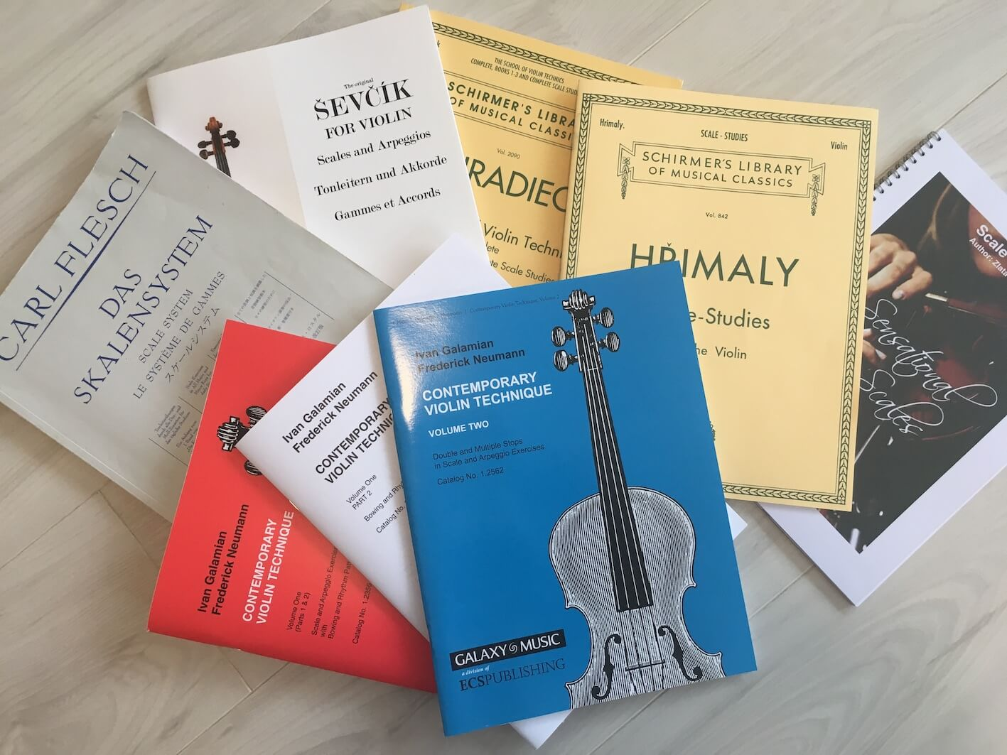 School of Violin Technics Books I-III Complete