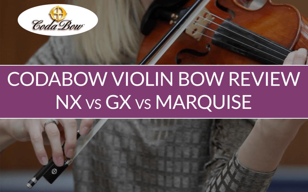 CodaBow Carbon Fiber Violin Bow Review   Violin Lounge TV #325