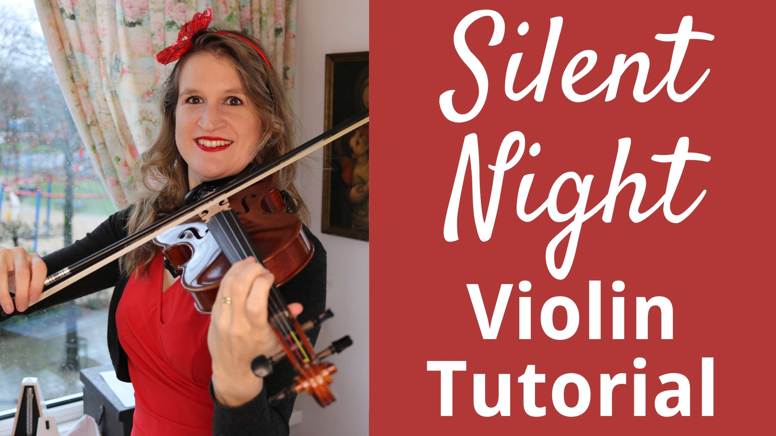 How to Play SILENT NIGHT on the Violin | Easy Christmas Tutorial for Beginners