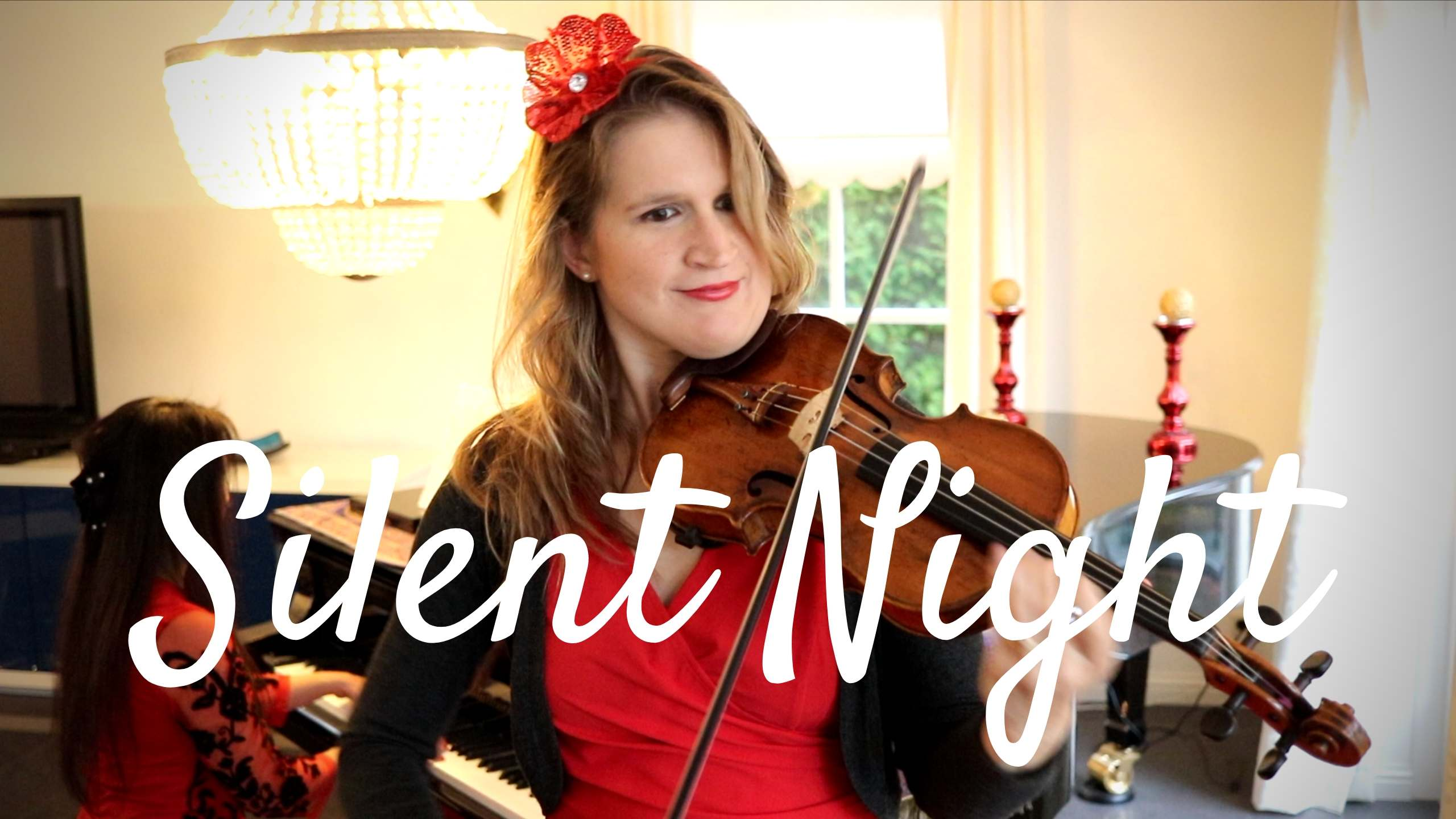 silent night violin piano